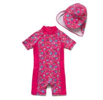 Baby Girl Toddler One Piece Sunsuits with UPF 50+ Sun Protection