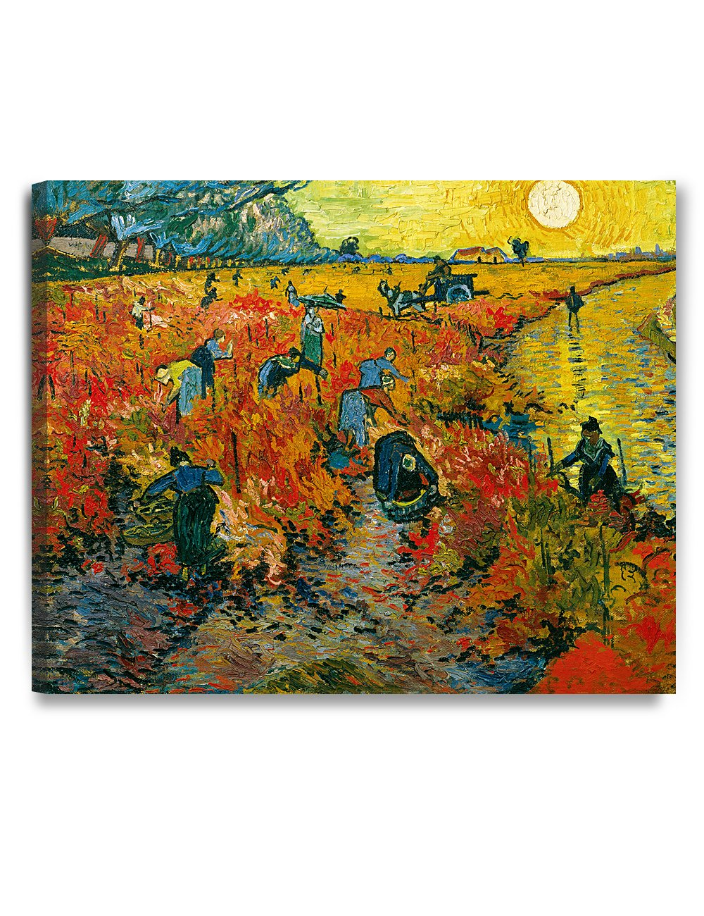 DECORARTS - The Red Vineyards, Vincent Van Gogh Art Reproduction. Giclee Canvas Prints Wall Art for Home Decor 30x24
