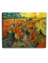 DECORARTS - The Red Vineyards, Vincent Van Gogh Reproductions. Giclee Canvas Print Wall Art for Home Wall Decor. 30x24x1.5