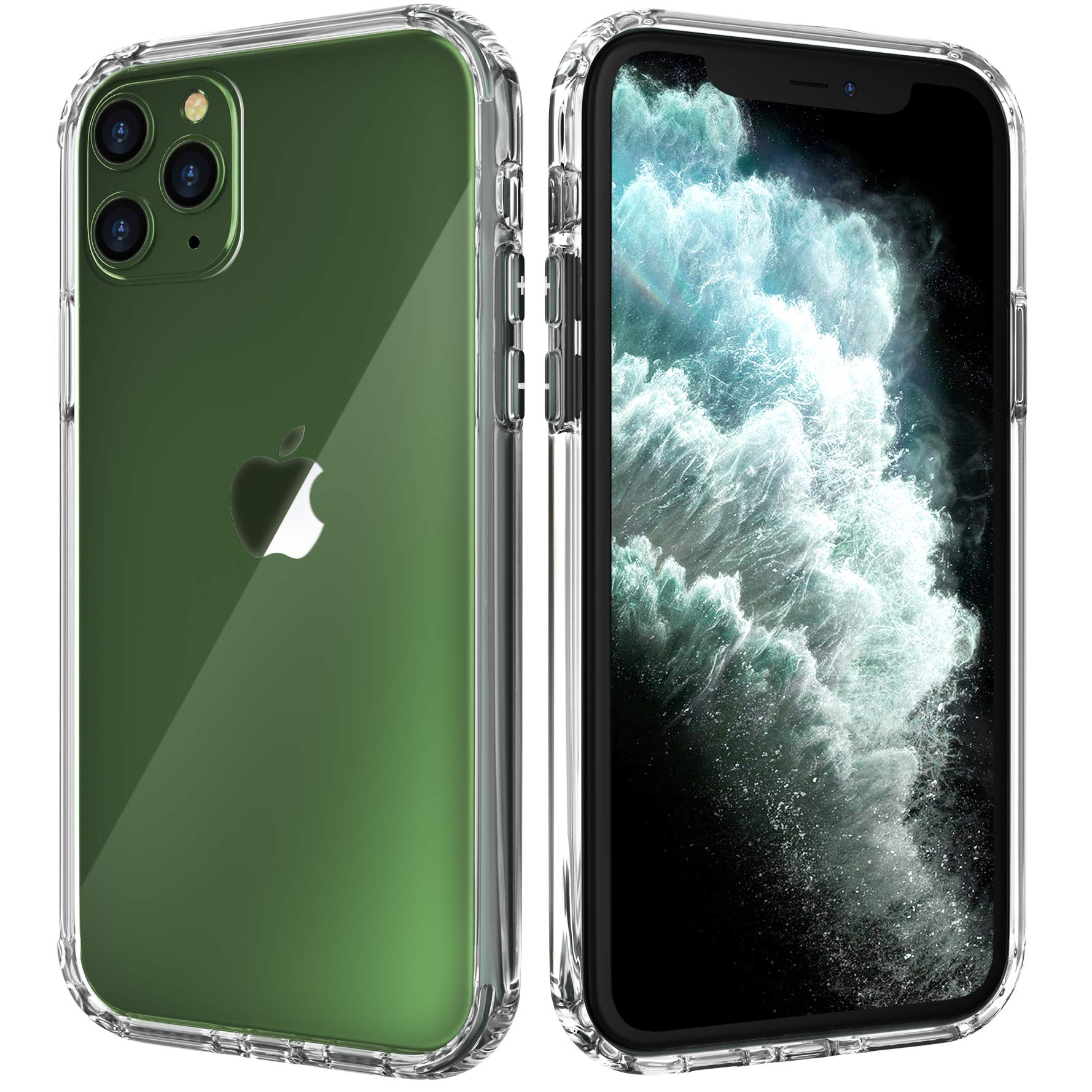 Citius Virtute iPhone 11 Pro Max Case | Clear Anti-Scratch Shock Absorption Protective Cover Compatible with iPhone 11 Pro Max Case