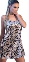 Lunachi Nightwear Womens Satin Nightgown Romantic Pajama Dress Fashion Sleepwear