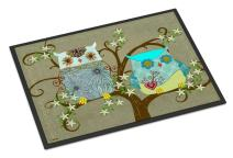 Caroline's Treasures PJC1094MAT The Friendly Ladies Owl Indoor or Outdoor Mat 18x27, 18H X 27W, Multicolor