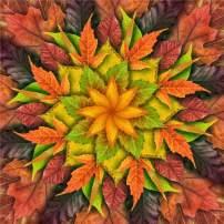 Hoffman Digital Dream Big Leaf 43'' Leaf Panel Autumn Fabric