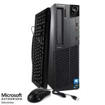 Lenovo ThinkCentre M91 Desktop Computer PC - Intel Quad Core i5 3.10GHz, 4GB RAM, 500GB HDD, DVD, WiFi, Keyboard, Mouse, Bluetooth, Windows 10 Professional (Renewed)