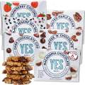 Yes bar - 6 bar Sampler Pack – (6Count) Plant Based Protein, Decadent Snack bar – Vegan, Paleo, Gluten Free, Low Sugar, Healthy Snack, Breakfast, On-The-Go, for Kids & Family