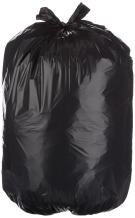 AmazonBasics 23 Gallon Slim Trash Can Liner Bag, 1.1 mil, Black, 250-Count - AMZB-23GBK-1.1M
