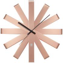 Umbra 118070-880  Ribbon Modern 12-inch, Battery Operated Quartz Movement, Silent Non Ticking Wall Clock, Copper