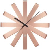Umbra 118070-880  Ribbon Modern 12-inch, Battery Operated Quartz Movement, Silent Non Ticking Wall Clock, Copper