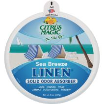 Citrus Magic On The Go Solid Air Absorber Sea Breeze Linen, Pack of 3, 8-Ounces Each