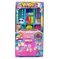 Vendees Go Wild Nail Art by Horizon Group USA, DIY Nail Art Craft Kit - Nail Polish, Glitter, Nail Stickers & Artificial Nails Included.Use Your Surprise DIY Dispenser to Revel Surprises & More