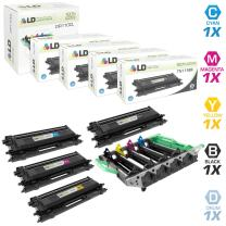 LD Remanufactured Toner Cartridge & Drum Unit Replacements for Brother TN-115 High Yield & DR110CL (4 Toners, 1 Drum, 5-Pack)