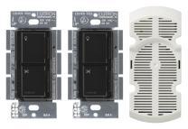Lutron MA-LFQ3-BL Maestro 300-watt Multi Location Dimmer and Fan Control Kit, Black