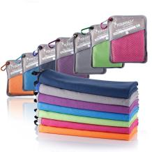 """SYOURSELF Microfiber Sports & Travel Towel-72 x32,60""""x30"""",40""""x20"""",32""""x16""""-Fast Dry,Lightweight,Absorbent,Compact,Soft-Perfect Beach Yoga Fitness Bath Camping Gym Towels+Travel Bag&Carabiner"""