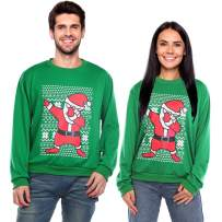 DINIGOFIN Ugly Christmas Sweater Men Xmas Funny Sweatshirts for Women Dabbing Santa Long Sleeve Couples Pullover