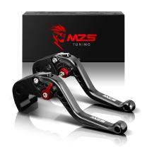 MZS Short Brake Clutch Levers Compatible with Kawasaki NINJA 650R ER-6F ER-6N 2009-2016| NINJA 400R ER-4F 2011-2013| VERSYS 650cc KLE650 2009-2014 Black