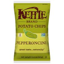 Kettle Brand Potato Chips, Pepperoncini, 8.5 Ounce (Pack of 12)