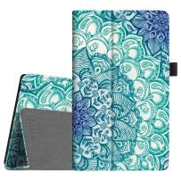 Fintie Folio Case for All-New Amazon Fire HD 8 Tablet (Compatible with 7th and 8th Generation Tablets, 2017 and 2018 Releases) - Slim Fit Vegan Leather Standing Protective Cover, Emerald Illusions
