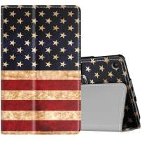 TiMOVO Case Fits All-New Fire 7 Tablet (9th Generation, 2019 Release) - Lightweight Smart Shell Slim Folding Cover Case with Auto Wake/Sleep Fit Amazon Fire 7 Tablet - US Flag