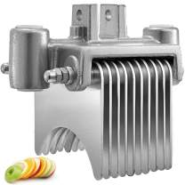 """Happybuy Easy Pusher Head 0.38 inches Onion Slicer Assembly Kattex Chopper Dicer Cut Blade, 3/8"""", Silver"""