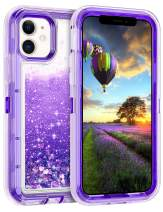 Coolden Case for iPhone 11 Cases Protective Glitter Case for Women Girls Cute Bling Sparkle Heavy Duty Hard Shell Shockproof TPU Case for 2019 Release 6.1 Inches iPhone 11 iPhone XI, Purple