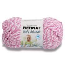 Bernat Baby Blanket Twist Yarn, 3.5 oz, Gauge 6 Super Bulky, Pink Twist