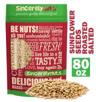 Sincerely Nuts Sunflower Seeds Roasted and Salted (No Shell) (5 LB)- Gluten-Free Food, Vegan, and Kosher Certified Snack-Nutritious and Satisfying-Crunchy and Ready to Eat-Freshness Guaranteed