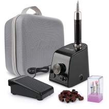 Belle Professional Brushless Nail Drill, 35000RPM Quite Smooth Lightweight Efile Drill Manicure Pedicure Kit Drills with A Carrying Case for Acrylic Gel Nails, Black