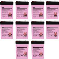 Charity Battery 6V 4.5AH SLA Battery Replaces cp0660 gp645 lcr6v4p hk-3fm4.5 wp4-6 - 10 Pack