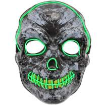 Ylovetoys Halloween Mask LED Light Up Purge Mask for Festival Novelty and Creepy Cosplay Costume with 3 Modes