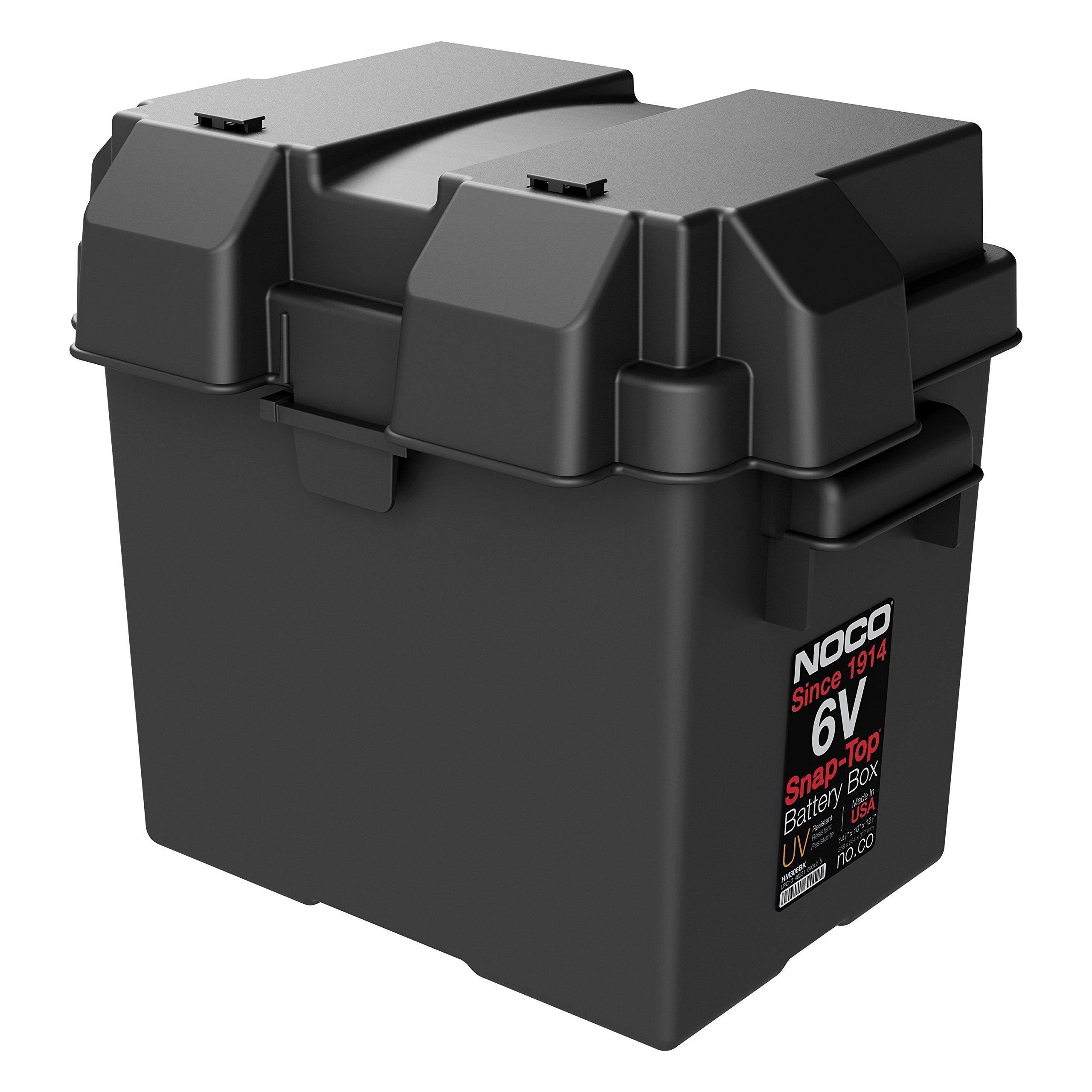 NOCO HM306BKS Single 6V Snap-Top Battery Box,Black