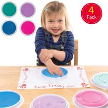 Baker Ross AT406 Pastel Jumbo Paint Pads, Pad for Kids Finger Painting for Arts and Crafts Projects  (4 Pack)
