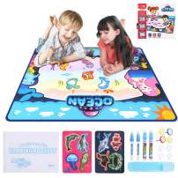 "OBloved Drawing Magic Mat, Kids Large Set Free Water Painting Mat with 4 Magic Pens,40""X 28"" Educational Toys Gifts for Age 2 3 4 5 6 7 8 Year Old Girls Boys Toddler"