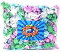 Party Colors Hard Candy Assortment - Primrose Hard Candy - Strawberry, Blue Raspberry, Lemon & Lime Flavored Candy Bulk, 3 lbs - Halloween Candy