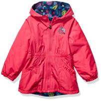 LONDON FOG Girls' Little Fleece Lined Midweight Jacket with Rouched Waist