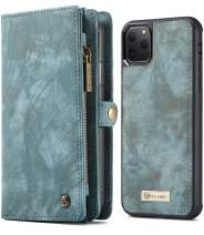 iPhone 11 Pro Max Wallet Case, iPhone 11 Pro Max Detachable Slim Cover, 6.5Inch, XRPow 2 in 1 Premium Leather Folio Magnetic Wallet Credit Card Slot Shock Protection Removable Carrying Cover Blue