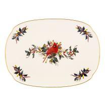 Lenox Winter Greetings Oblong Platter,Ivory