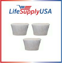 LifeSupplyUSA 3PK Replacement Humidifier Wick Filter C Compatible with Holmes HWF65, Sunbeam SF206, Bionaire BWF65, White-Westinghouse WWH650