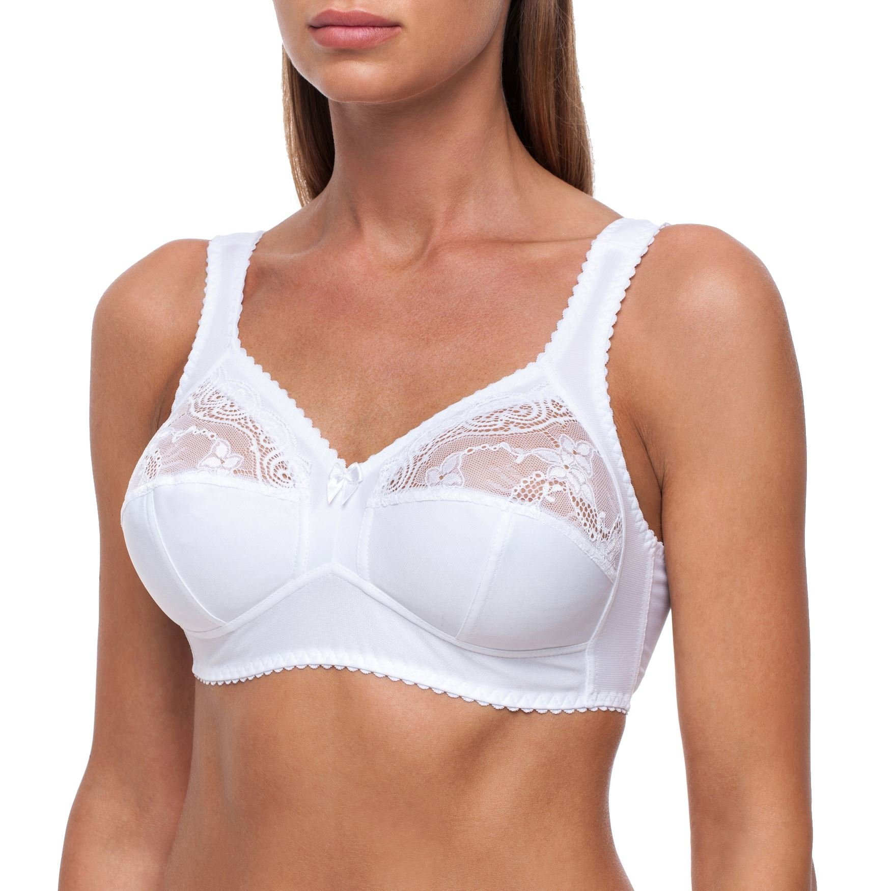 frugue Women's Wireless Plus Size Unlined Minimizer Full Coverage Bra