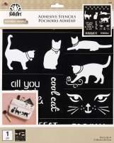 """FolkArt 39246 Flexible Adhesive Stencil, 8.5"""" x 9.5"""", Cat"""