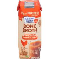 Kitchen Basics Turmeric & Ginger Chicken Bone Broth, 8.25 Ounce (Pack of 12)