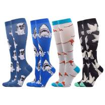 WeciBor Women's Funny Casual Combed Cotton Colorful Cool Fun Knee High Socks
