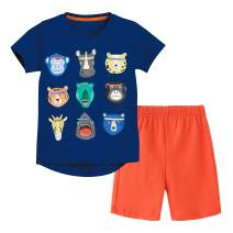 Fiream Boys Shorts Set Application Baby Boy Clothes T-Shirt and Shorts Outfit Set 12M-4T Clothes(8010TZ,3-4 Years)