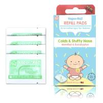 RaZbaby Vapor-RaZ Refills/Baby Cough and Cold Relief/Use at Home & on The go/All Natural Menthol & Eucalyptus / 4 Refills