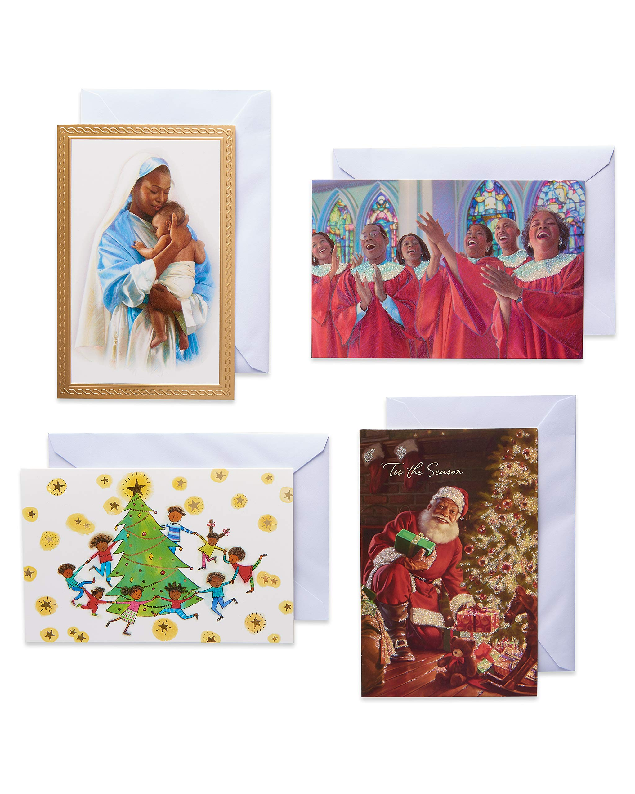 American Greetings Christmas Cards Boxed, African American Assorted (20-Count)