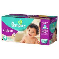 Pampers Cruisers Disposable Diapers Size 4, 112 Count, GIANT
