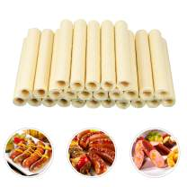 Hayos Edible Drying Sausage Casing Collagen Sausage Casings for Flavorous Homemade Sausages Ham,14m/46ft, Diameter 20mm/ 3/4'',New Package,1pack