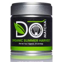DoMatcha - Organic Summer Harvest Green Tea Matcha Powder, Natural Source of Antioxidants, Caffeine, and L-Theanine, Promotes Focus and Relaxation, Kosher, 25 Servings (1 oz)