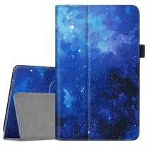 Fintie Folio Case for All-New Amazon Fire 7 Tablet (9th Generation, 2019 Release) - Slim Fit PU Leather Standing Protective Cover with Auto Wake/Sleep, Starry Sky