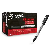 Sharpie Extreme Permanent Markers, Fine Point, Black, 36 Count