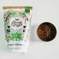 Good Trip: Yerba Mint ~ As Seen in Anthropologie | Organic Coffee Infusion Mixed w/ Teas, Spices & Coconut | Vegan, GF, Keto, Non-GMO | (Coarse Ground for Cold Brew or French Press), 10 oz